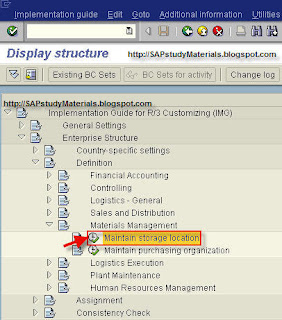 MM Configuration: Maintain Storage Location | iERP us – Integrated