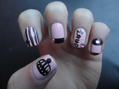 Beutiful Nail Painting: Juicy Couture Nail Design