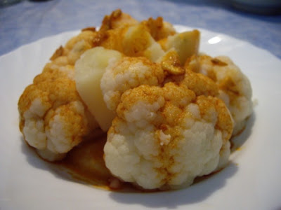 Mis Recetas De Cocina Coliflor Con Patatas Aliñada Con