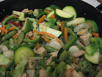 stir fry, before the sauce