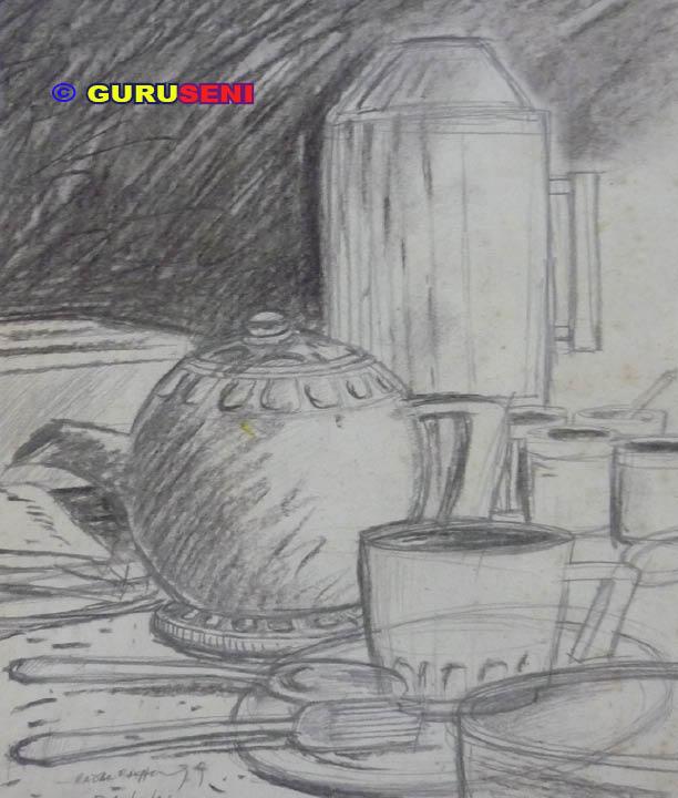 Lukisan Yang Menggunakan Pensil Arang