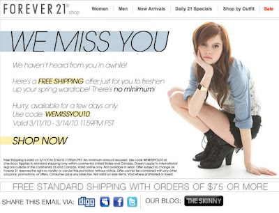 forever 21 free shipping