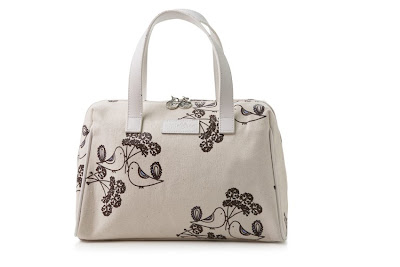Apple & Bee Ivory Turtle Dove bowling bag