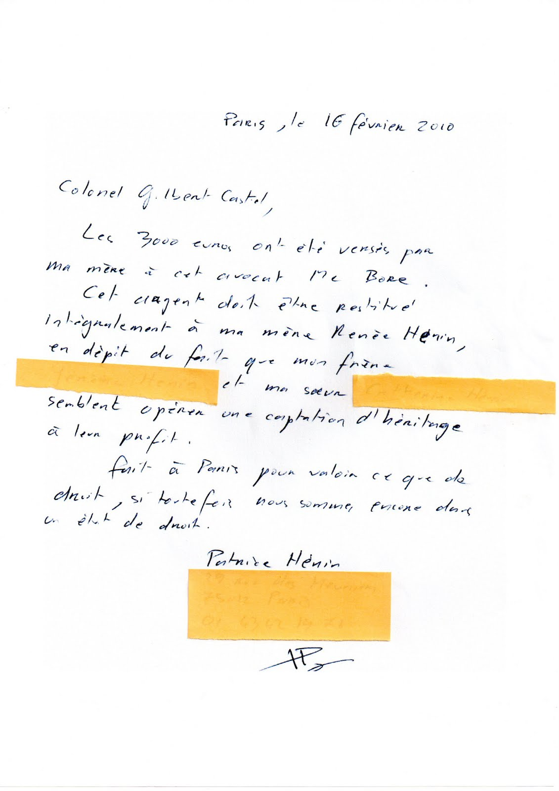 modele lettre de porte fort Patrice Hénin modele lettre de porte fort