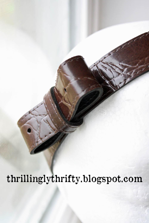 Thrillingly Thrifty: Upcycled Belt Headband Quailman Belt Headband
