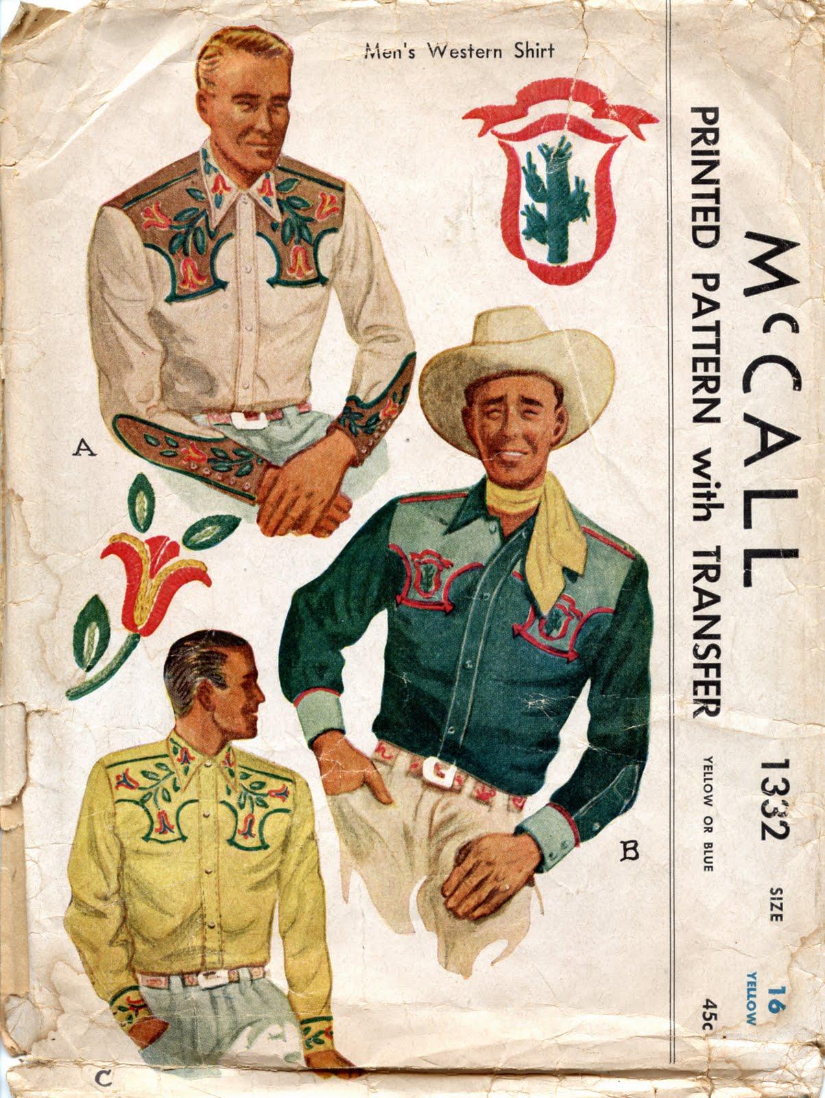 Unsung Sewing Patterns: McCall 1332 - Men's Western Shirt