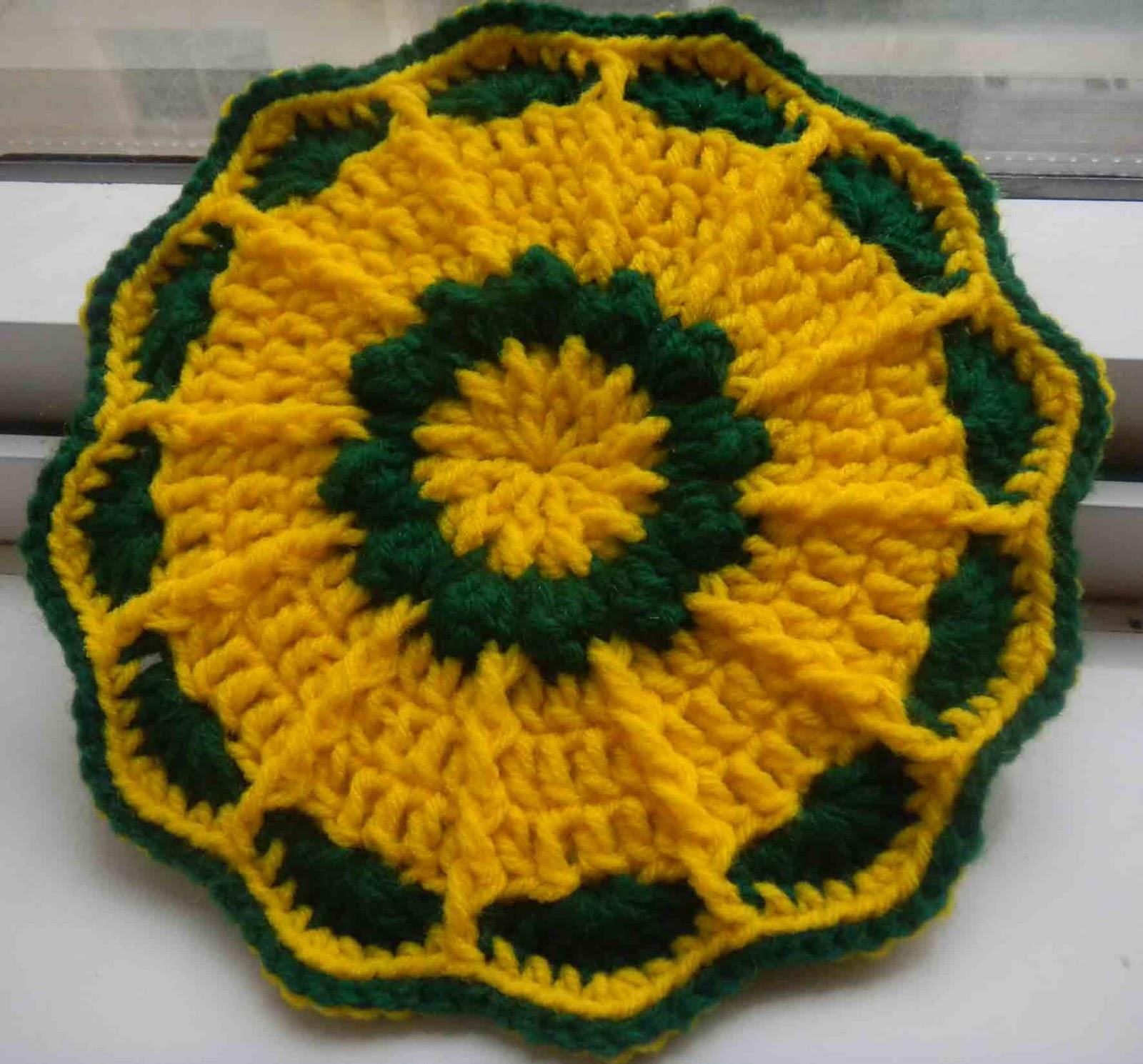 sandvicrochet: Free pattern of crochet Flower pot holder