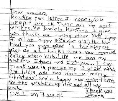 Humanitarian Service Project Heartfelt Thank You Letter