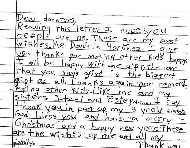 Humanitarian Service Project: Heartfelt Thank You Letter