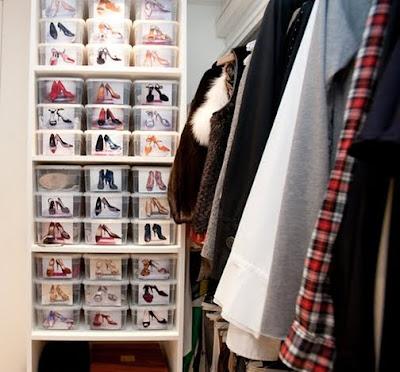achados dali e daqui vamos organizar os sapatos. Black Bedroom Furniture Sets. Home Design Ideas