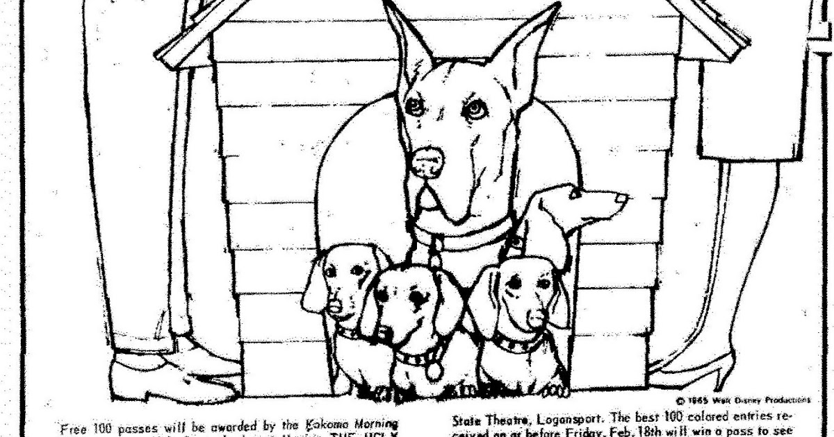 Mostly Paper Dolls: THE UGLY DACHSHUND Coloring Contest, 1966
