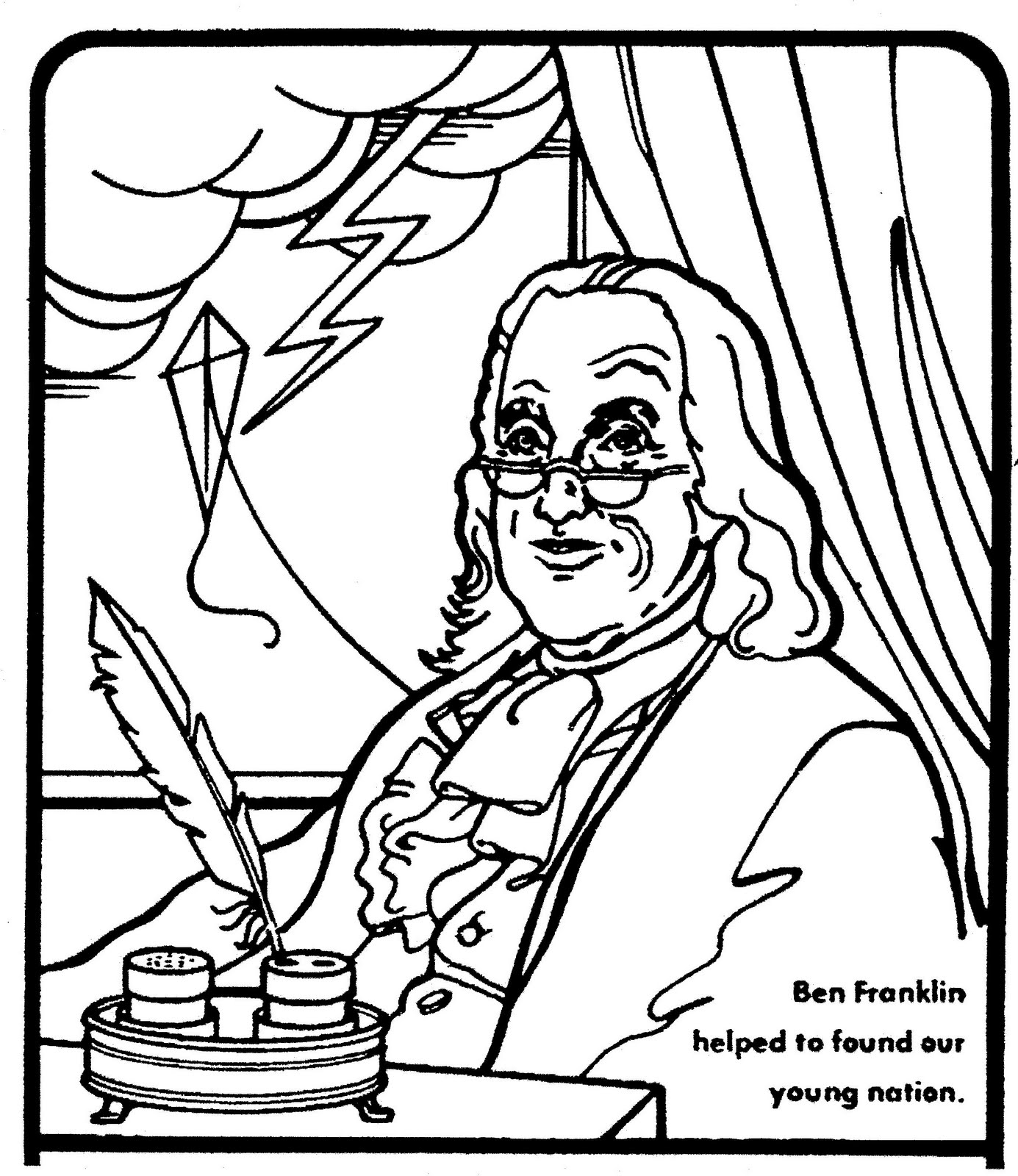 free printable benjamin franklin coloring pages | Mostly Paper Dolls: June 2010