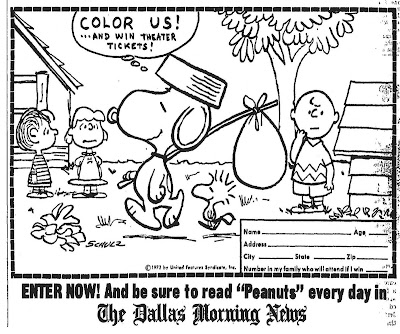 Mostly Paper Dolls: SNOOPY, COME HOME Movie Coloring