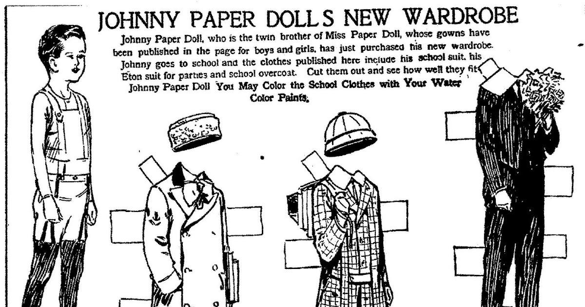 Mostly Paper Dolls: Johnny Paper Dolls New Wardrobe, 1911