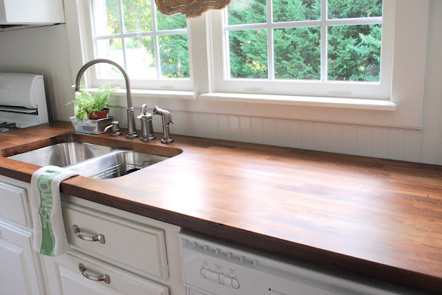 butcher block counter how to