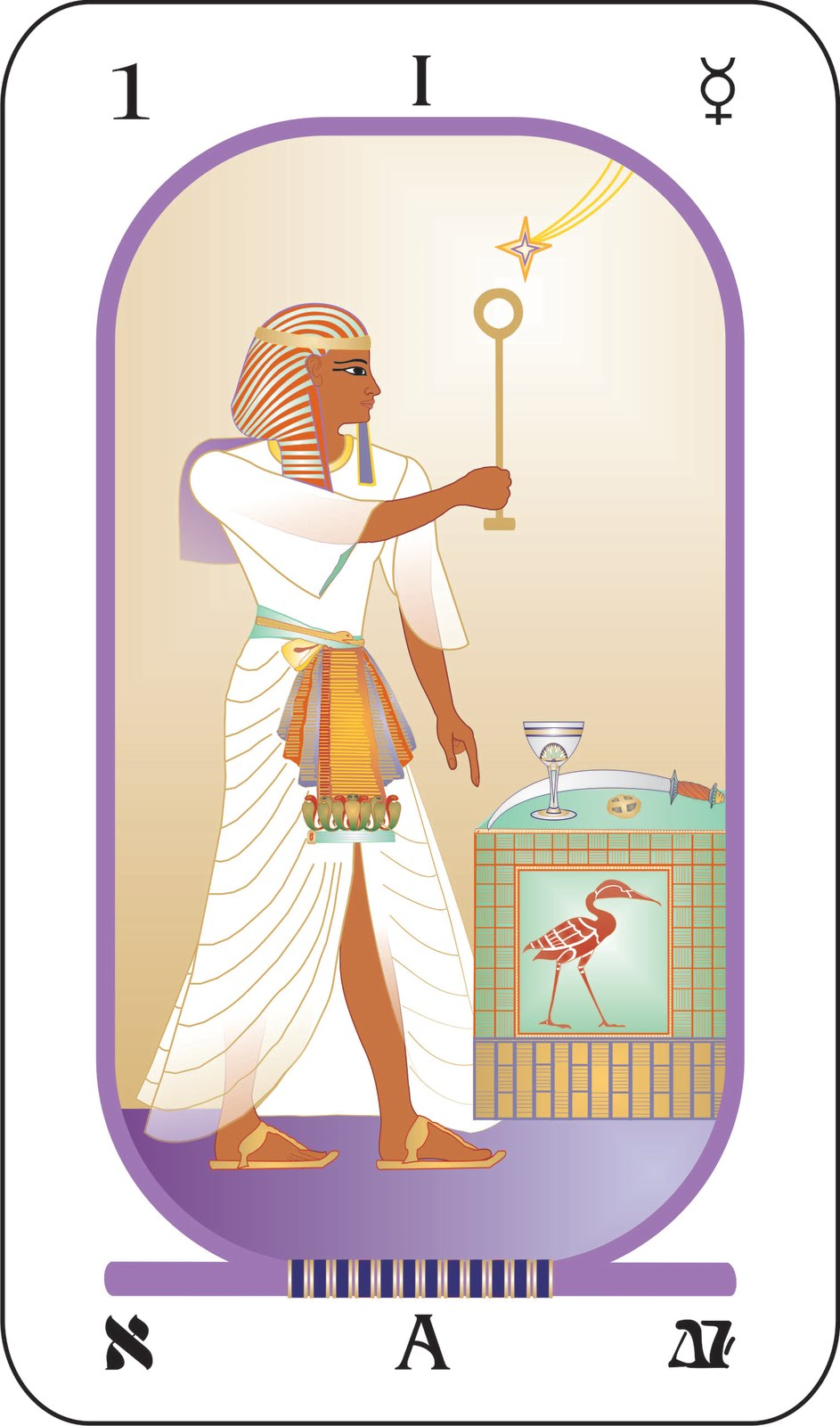 Egyptian Tarot Kit Deck Book Loscar: Egyptian Tarot: The Magus