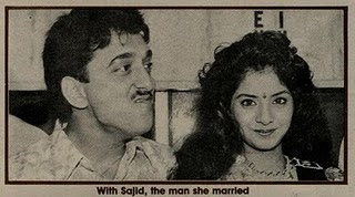 Divya Bharti With Husband