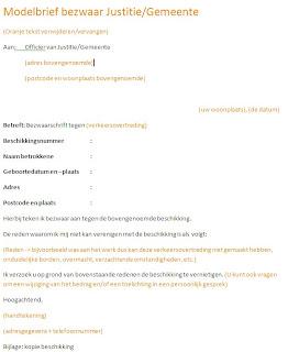 bezwaar brief schrijven Verkeersboetes: Voorbeeldbrief bezwaar parkeerboete
