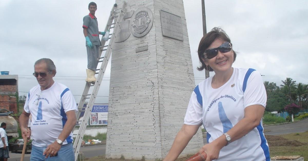 BLOG DO LIONS CLUBE DE ITABUNA CENTRO: 1ª Lavagem do Obelisco