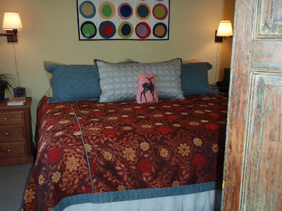 bedroom makeover new coverlet and pillows