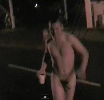 dude nude in public