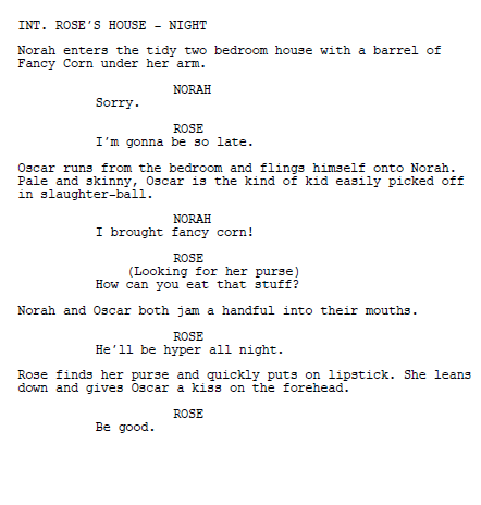 Screenplay format example screenplay example how to for Camera script template
