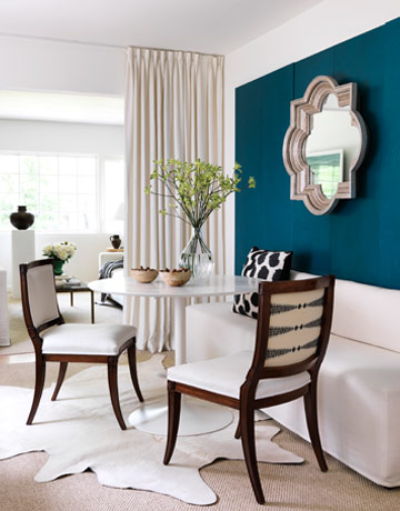 Ten June: The Look for Less: A Modern Teal Dining Nook