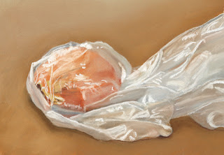 bagged onion daily pastel painting