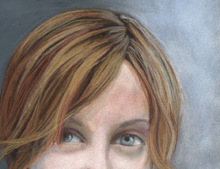 her eyes daily pastel painting