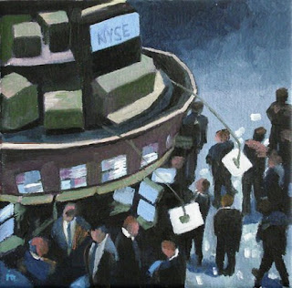 NYSE daily oil painting