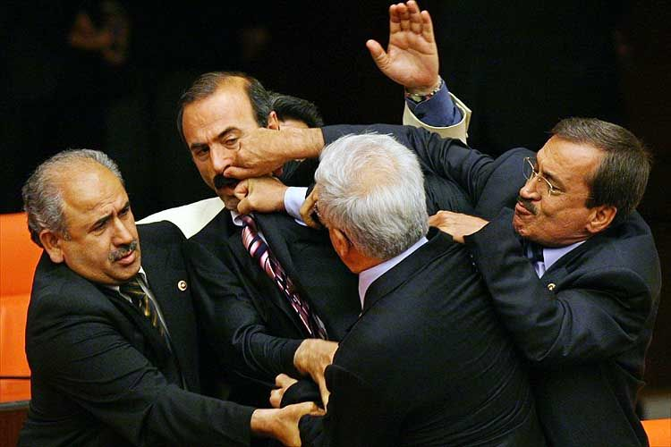 Fighting in the parliaments around the world: 14Pics