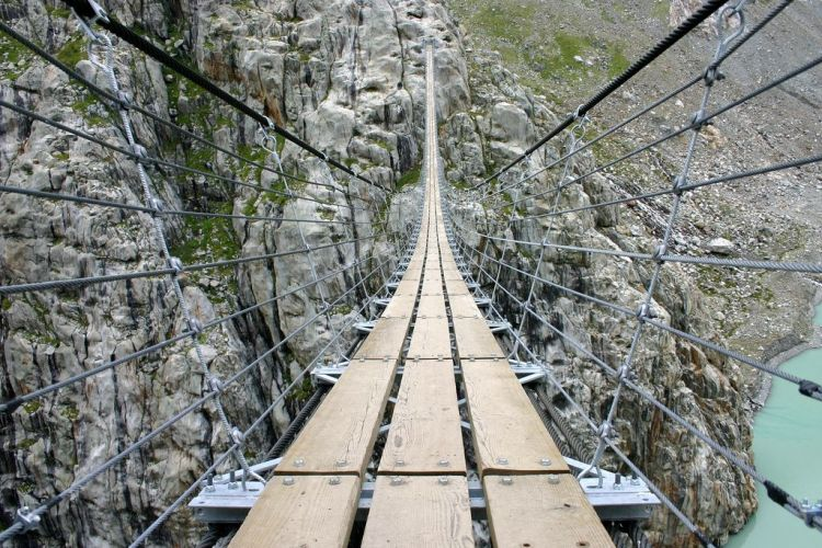 A compilation of Hanging Bridges around the World: 36