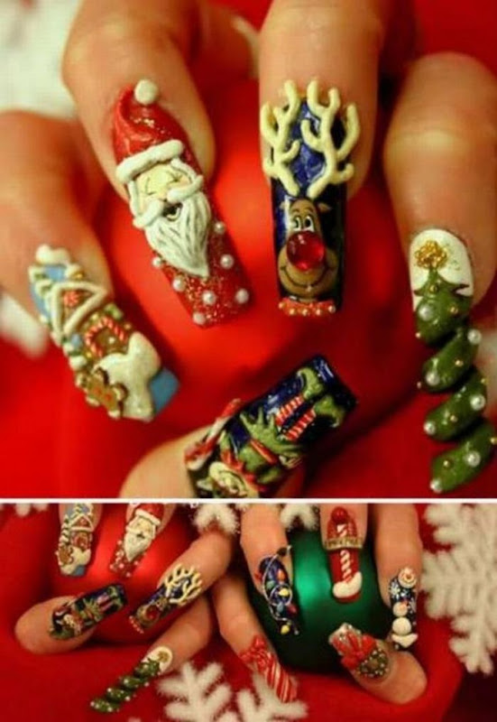 Extreame manicure designs: 10