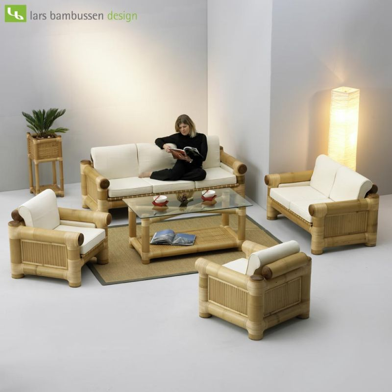 Home design and interior bamboo living room set - Unique living room furniture ...