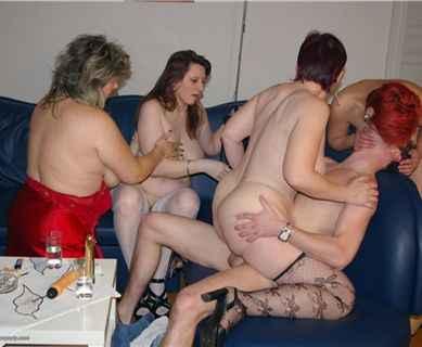 Seniors group sex