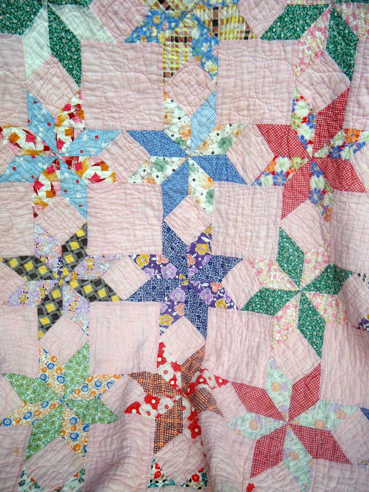 Vintage Star Quilt Flour Sack Mama
