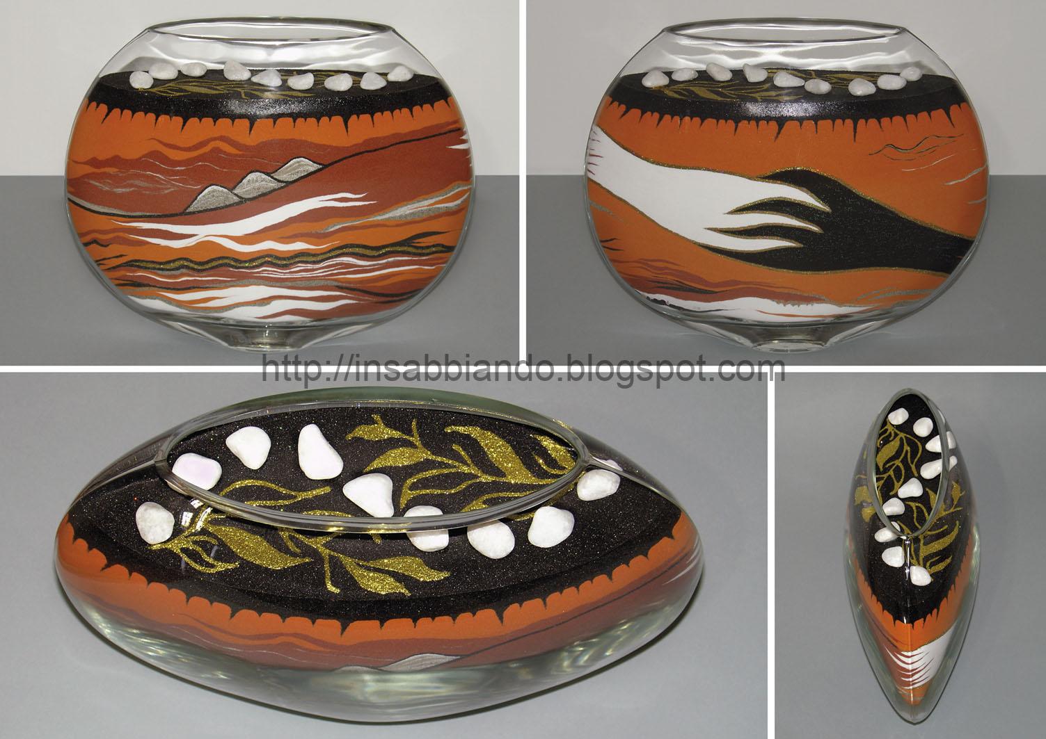 inSABBIAndo: Sand Art: PEACE, vaso in sabbia colorata e