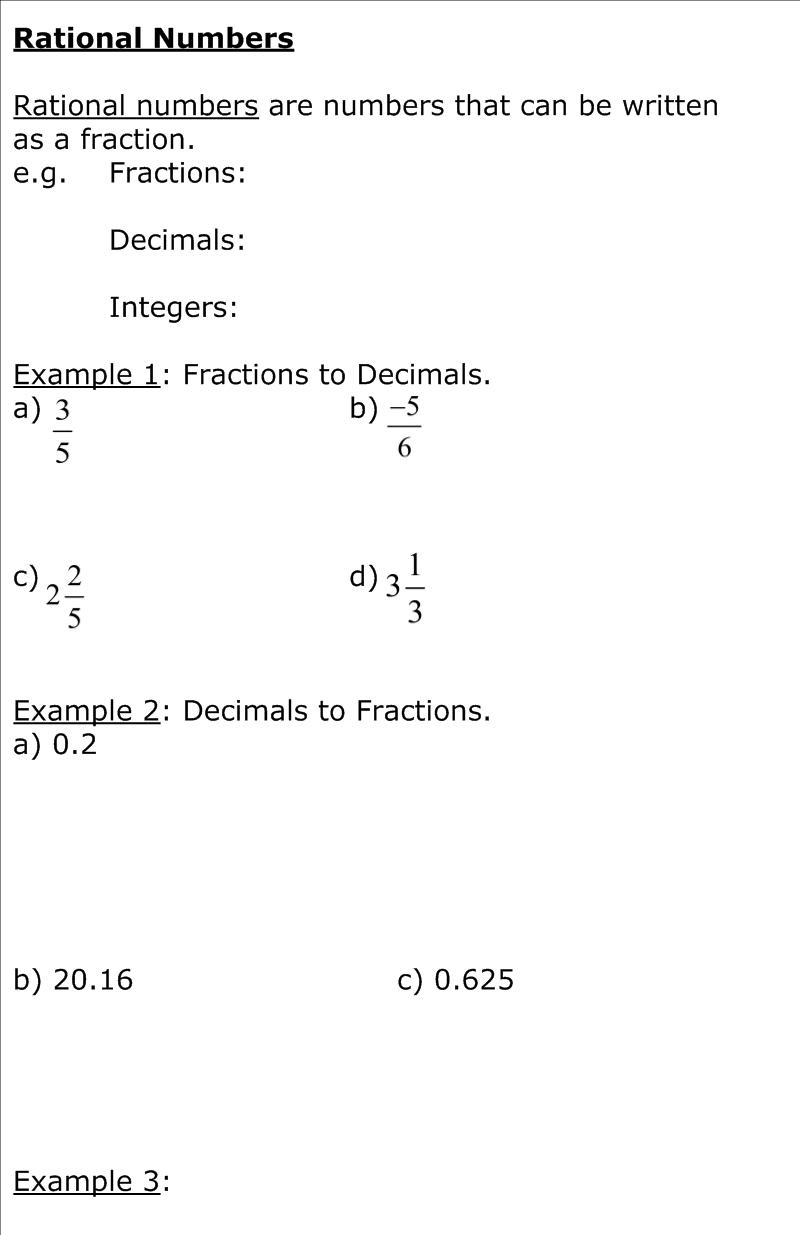 Math homework help rational numbers