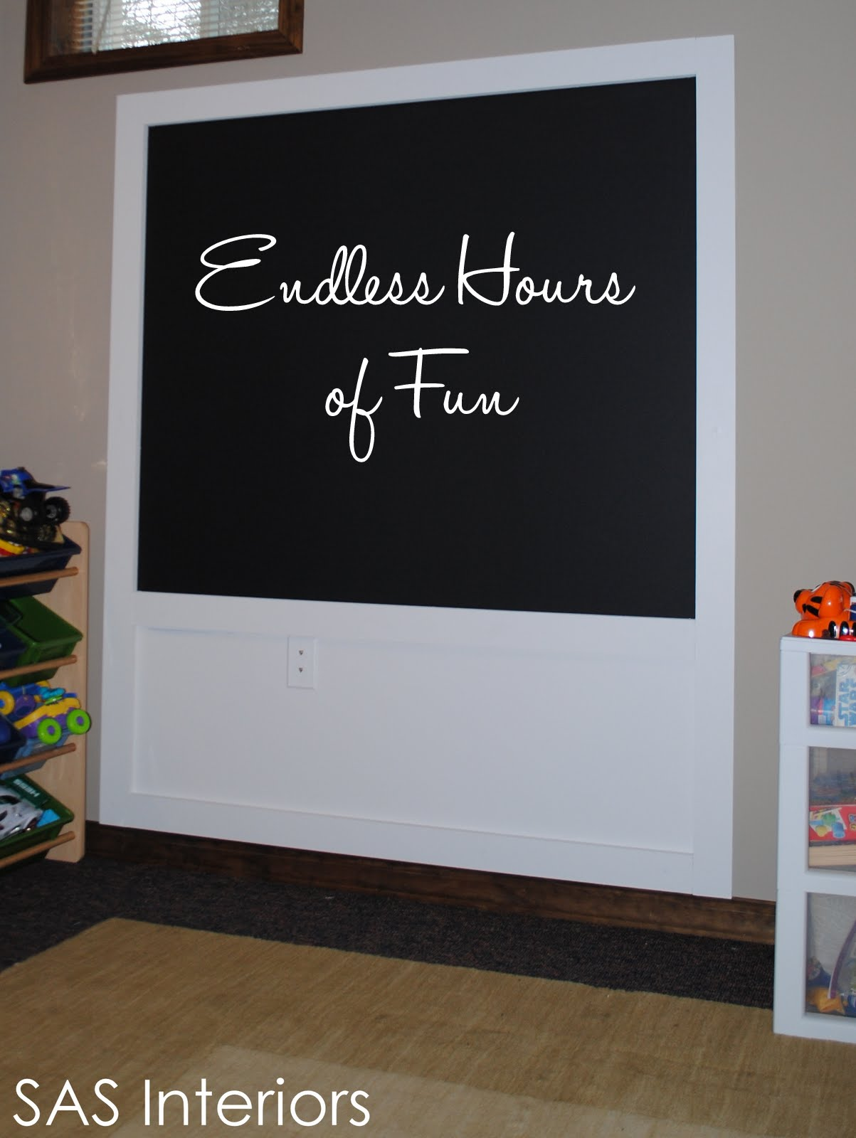 DIY: Creating a Framed Chalkboard Wall - Jenna Burger
