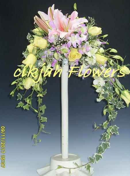 Cikjahonlineflowers Still On Bridal Bouquets Crescent Design With Lilies And Dendrobium Orchid