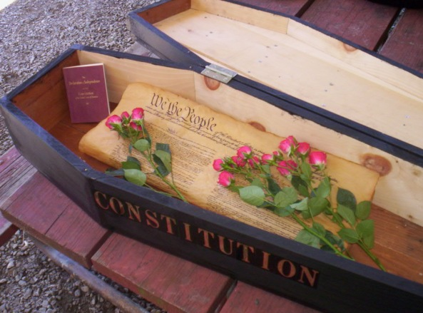 Constitution in a casket