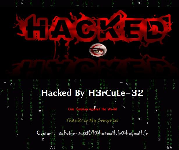 7 websites Defaced by Tunisian Hacker - H3rCuLe-32
