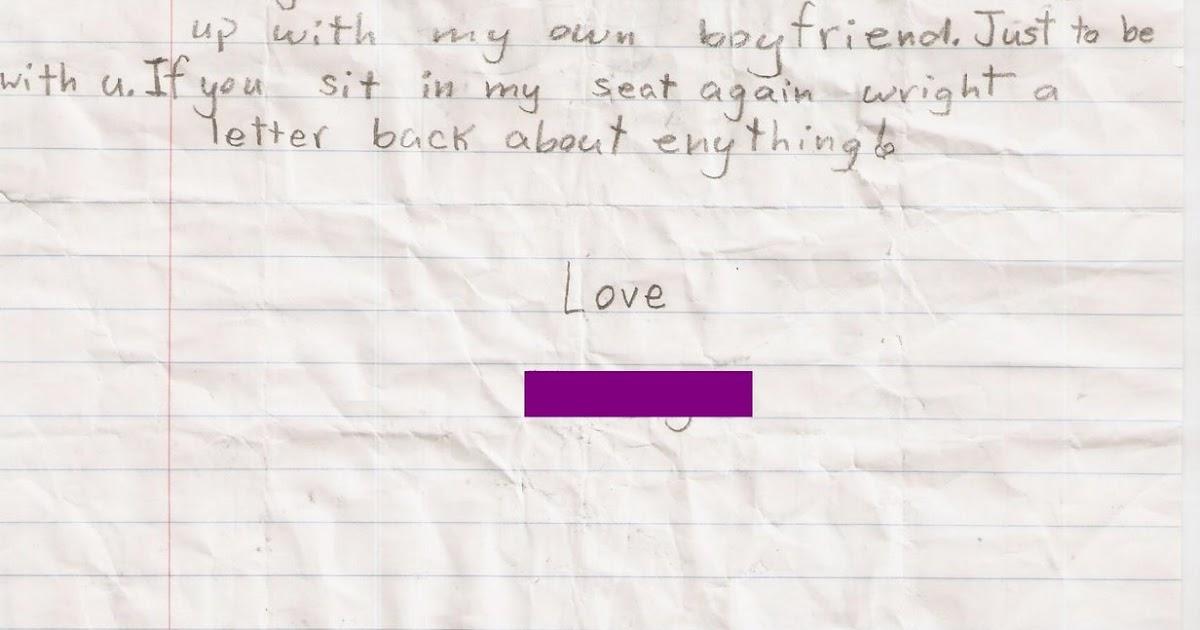 Swampbrat: 5th grade Love Letter