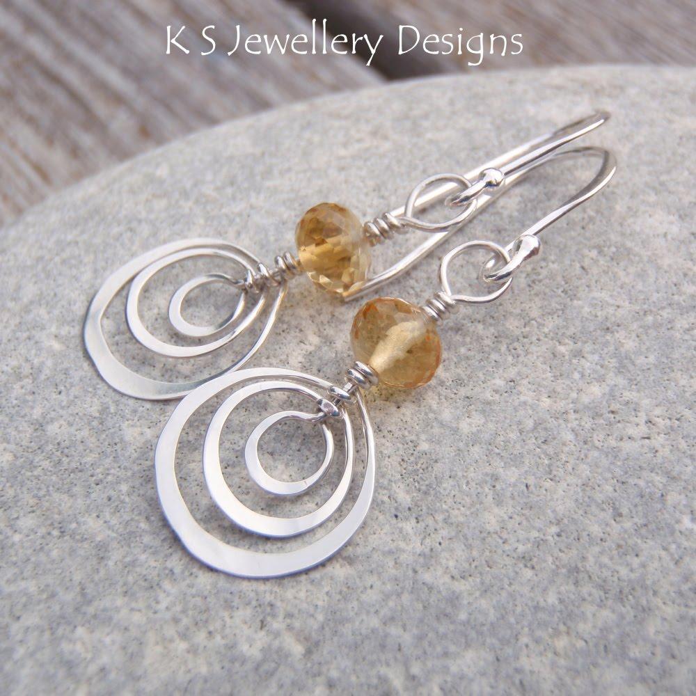 K S Jewellery Designs Hammered Shape Earrings