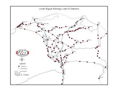 Digital Map of Egypt: Egyptian Railways