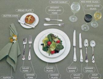 Delicious Food Recipes Formal Table Setting