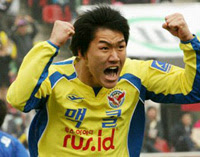 Seongnam striker Kim Dong-hyun in happier times