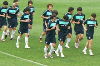 Park Ji-sung leads the way - picture by John Duerden