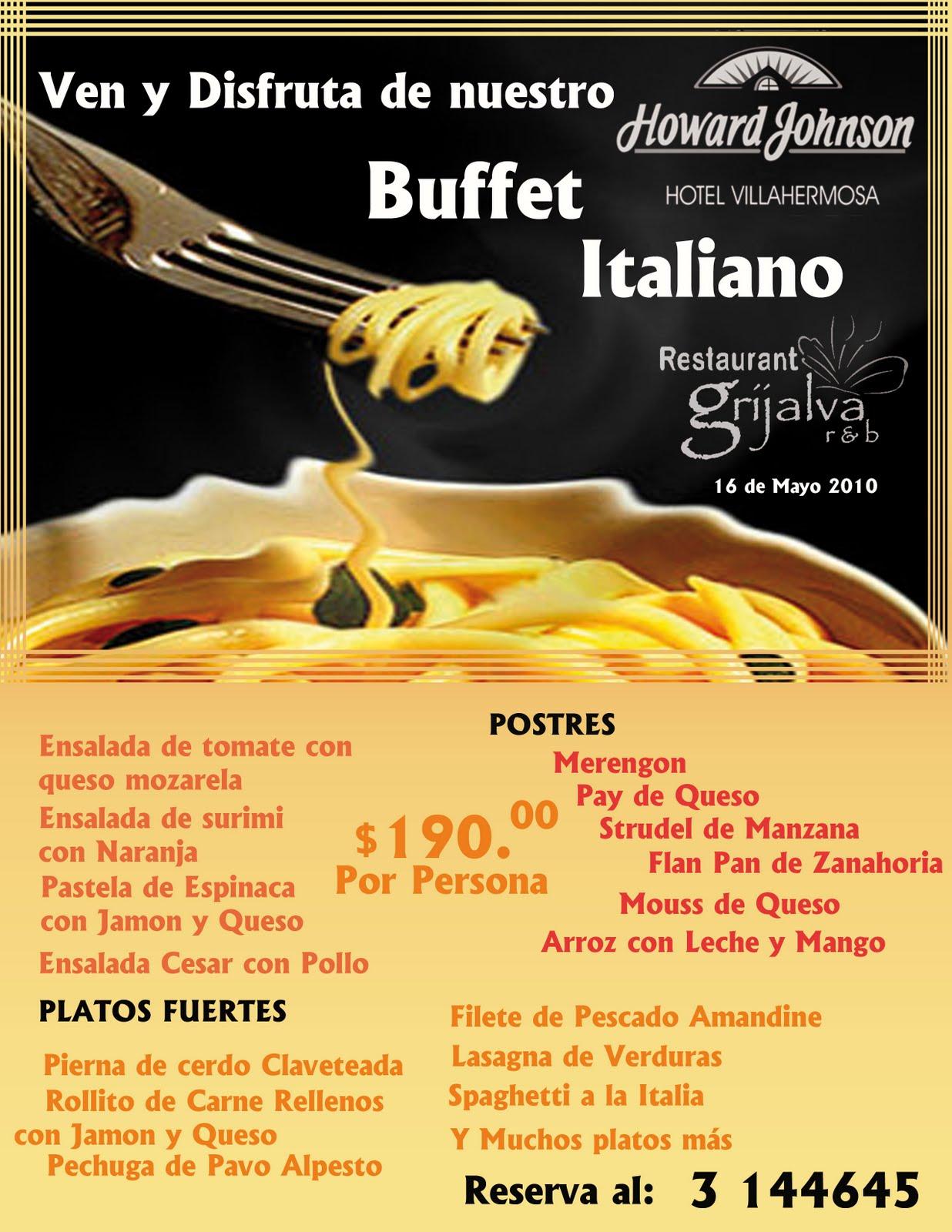 Buffet Italiano Mayo 2010