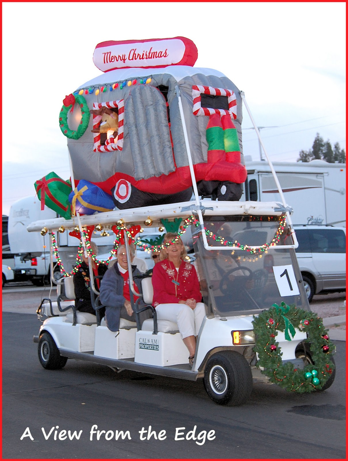 ring in the holidays - Golf Cart Christmas Decorations